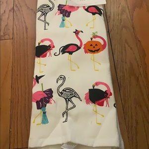 Flamingo holiday dish towels